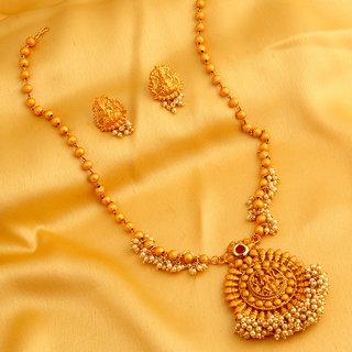 Sukkhi Classic Laxmi Design Gold Plated Necklace Set For Women