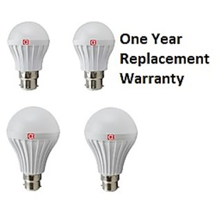 Alpha Pro Cool Daylight Led Bulb Pack of 4 (2 Bulb of 5 Watt  and 2 Bulb of 9 Watt) 1 Year Replacement Warranty