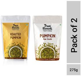True Elements Pumpkin Seeds Combo 275gm ( Raw Pumpkin 150gm + Roasted Pumpkin 125gm)