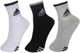 Adidas Unisex Ankle Length Multicolor Socks - 3 Pairs