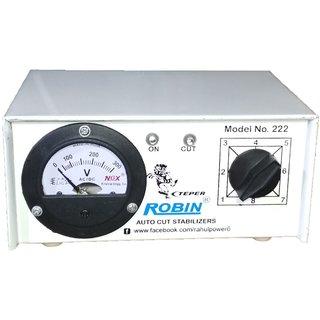 Robin Teper 222a 300 VA 140-280 Volt 1 CRT TVMusic System + DVD/DTH Autocut Voltage Stabilizer