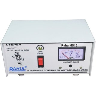 Rahul 6515 a 500 VA 140-280 Volt LCD/LED TV 42 + /Music System/Refrigerator 90 Ltr to 180 Ltr Automatic Voltage Stabili