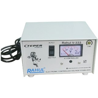 Rahul V-333 a 600 VA/2 AMP 100-290 Volt 1 Refrigerator 90 Ltr to 185 Ltr 5 Step Auto Matic Voltage Stabilizer