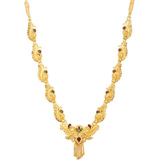 GoldNera Ethnic Traditional Gold Plated Fashion Jewelry  ONLY Necklace With Enamel Beauty For Women/Girls India.