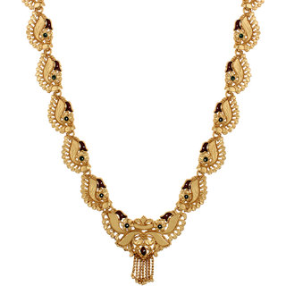 GoldNera Alloy Gold Plated Adjustable Wedding Gold  Necklace For Women