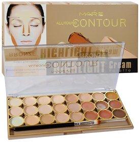 Mars Adbeni All Round Contour Bronze Highlight Cream Palette 24 shade (Beige)