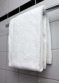 Aashish collection 1 cotton white bath towel