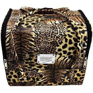 GlamGlas PU Leather Cosmetics Vanity Box