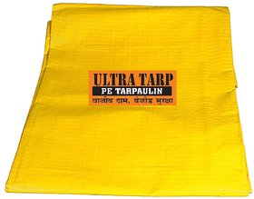 UltraTarp PE Tarpaulin (12 ft x 12 ft) - 150 GSM Yellow 100 Pure Virgin UV Treated