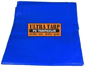 UltraTarp PE Tarpaulin (06 ft x 09 ft) - 120 GSM Blue 100 Pure Virgin UV Treated