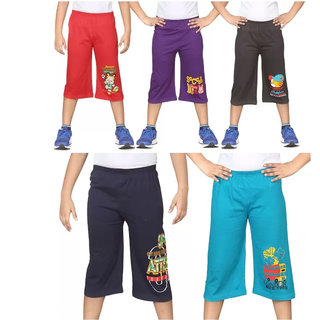GMR Boy's 3/4th pant combo pack of 5 ( 5-7 Years)
