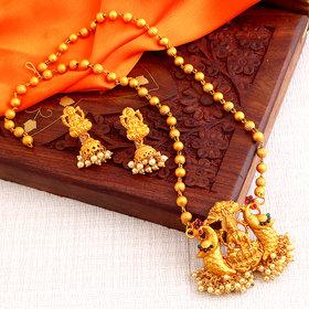 Sukkhi Marvellous Laxmi Design Gold Plated Necklace Set for women