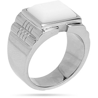 Stainless Steel Ring White