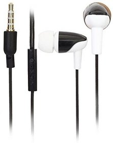 KSJ VM-74 Cloth wire universal Handfree Earphone with mic (Assorted Colors)