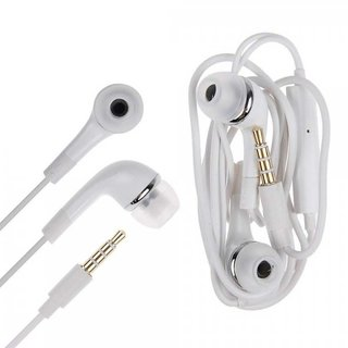 KSJ VM-74 Wired Earphones For Daily Use With Audio Controls & Mic (white)