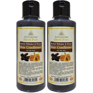 Khadi Pure Herbal Shikakai  Honey Hair Conditioner - 210ml (Set of 2)