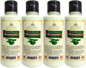 Khadi Pure Herbal Aloevera Moisturizer - 210ml (Set of 4)