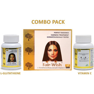 Gluta Tablets with Vitamin C for Skin Whitening  Fair Wish