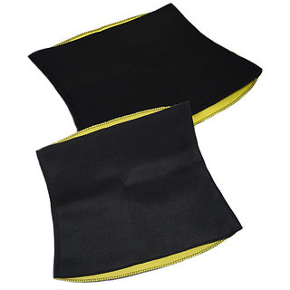 Neoprene Unisex Black  Yellow Hot Waist Body Shaper Belt