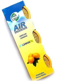 Air Oma Lemon Car Gel Perfume Set of 3 pieces By Kudos Enterprise