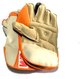 Wicket Keeping Gloves. Leather Gloves for Cricket, Color  As per Availability,