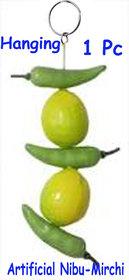 Nibu -Mirchi (Artificial for Long lasting Meterial)-1 Set