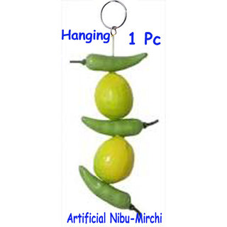 Nibu -Mirchi (Artificial for Long lasting Meterial)-1 Set