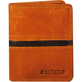 CALFNERO Men's Genuine Leather Wallet