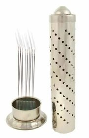 Goldcave Silver Agarbatti Stand - Stainless Steel