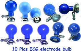 ECG electrode bulb with metal part set of 10