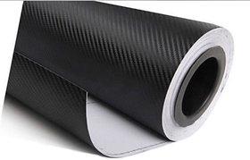 Universal 12x24 3D Black Carbon Fiber Vinyl Car Wrap Sheet Roll Film Sticker Decal for Car & Bike Both