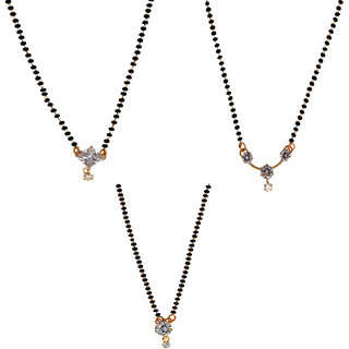 Chrishan Gold Plated Marvelous Fashionable Mangalsutra Combo Set For Women.