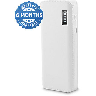 Orenics Fast charge leather look 20000 mAH Power bank (white)
