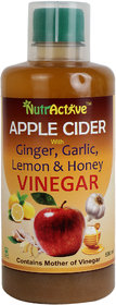 NutrActive Apple Cider Vinegar With Ginger / Garlic / Lemon  Honey - 500 ml