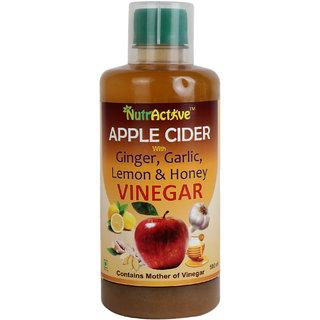 NutrActive Apple Cider Vinegar With Ginger / Garlic / Lemon  Honey - 500 ml