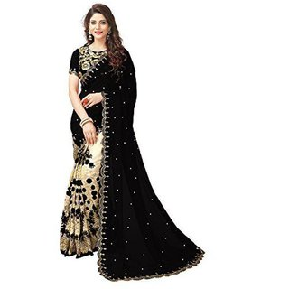 Bhavna Creation Georgette Embroidered Saree With Blouse