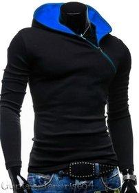 Redbrick Oblique Zipper Hoodies Men tshirt /t shirt 100 cotton FOR SUMMER