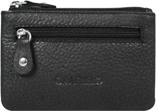 Calfnero Genuine Black Leather Key Case