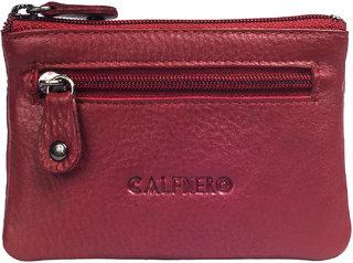 Calfnero Genuine Red Leather Key Case