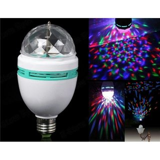 DDH Disco Light Mini Party Lamp LED 3W Effect Rotating Decorative RGB Crystal Electric Bulb