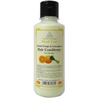 Khadi Pure Herbal Orange  Lemongrass Hair Conditioner - 210ml