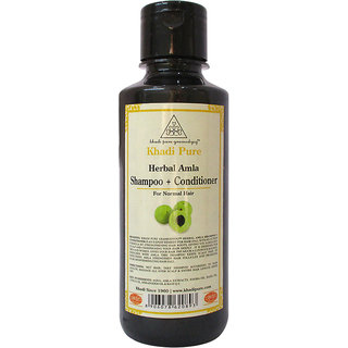Khadi Pure Herbal Amla Shampoo + Conditioner - 210ml