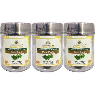 Khadi Pure Herbal Neem  Tulsi Face Pack - 50g (Set of 3)