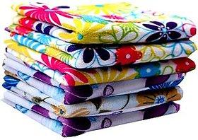 Set Of 6 Pc Premium Quality 200 GSM Men's Pure Cotton Hanky/ Handkerchief (o1)