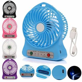 HY TOUCH Mini Portable USB Rechargeable 3 Speed Fan (Colours May Vary)