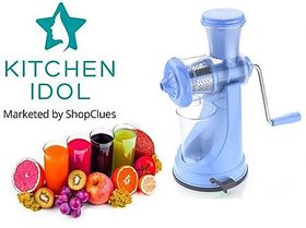 Kitchen Idol Manual Juicer Plastic Sky Blue