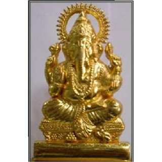 Pack Of 1 SK1 Metal Gold Finish Ganesh Murti