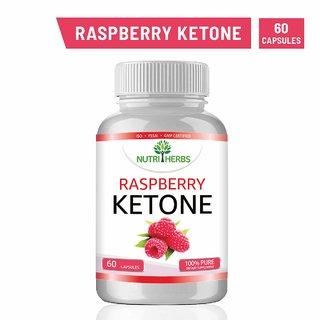 Nutriherbs Raspberry Ketone - Garcinia Cambogia, Green Tea Extract - 60 Capsules