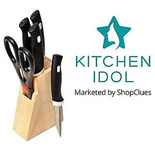 Kitchen Idol Knifes Set With Wooden Stand