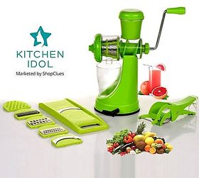 Kitchen Idol Plastic Utility Combo - Juicer , 6 in 1 Slicer and Vegetable Cutter with Peeler